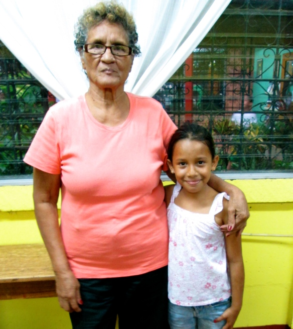 Sarela and her great-grandmother, Rosa