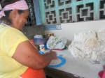 Tomasa making some REAL corn tortillas (not made from Maseca)